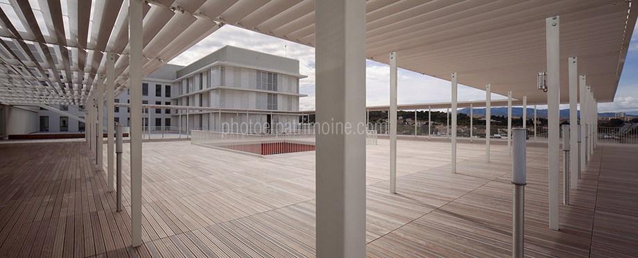 Hôpital de Cannes, la terrasse © Michel Bourguet