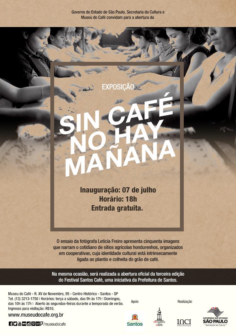 Convite. Museu do Café. Santos