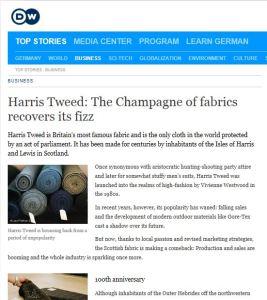 harris tweed deutche well