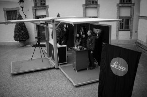 leica stand with my photo