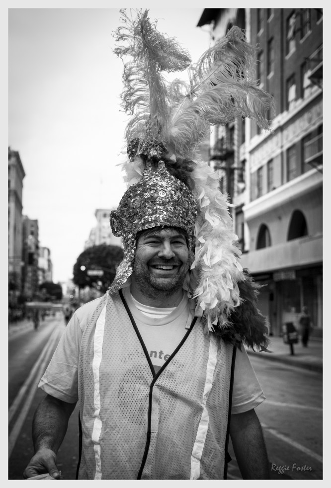 CycLAvia Crossing Guy, October 2016, DTLA, Los Angeles, CA, ©2016 Reginald Foster, All Rights Reserved