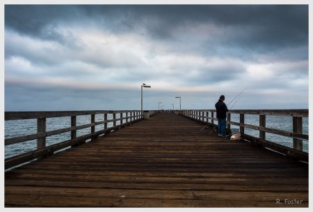 Fishing off of the pier, Port Hueneme, CA, June 2016