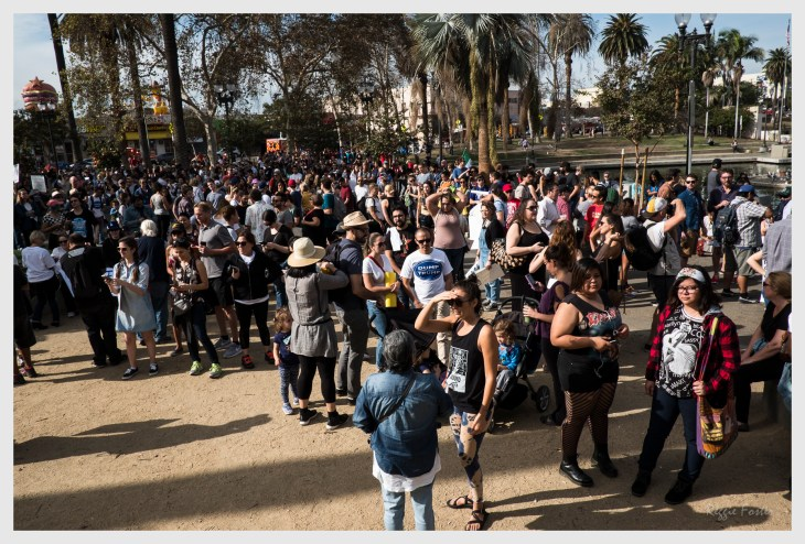 Before the start of the Anti-Trump Protest in MacArthur Park