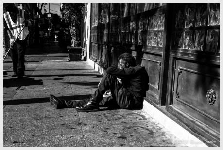 Homeless #1 11Sept16, DTLA, Los Angeles, CA, 11Sept16, ©2016 Reginald Foster, All Rights Reserved