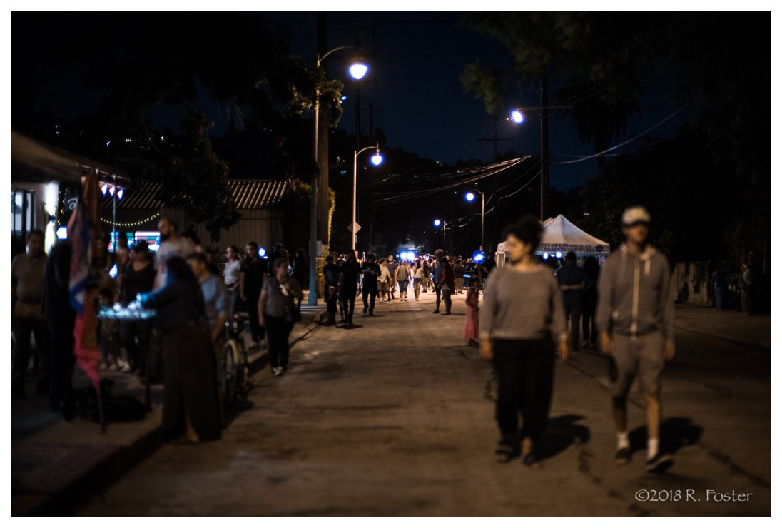 Night-time in Frogtown, 2018 Frogtown Art Walk