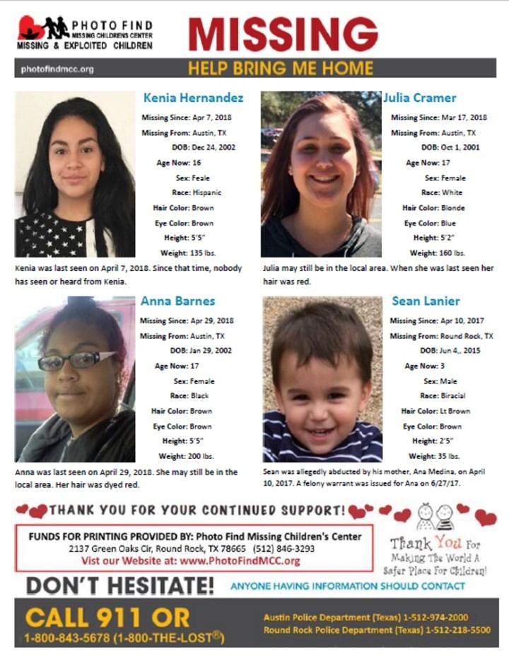 Photo Find Missing Children Flyer In Texas