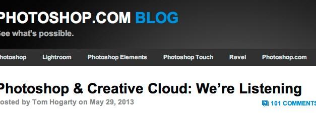 """Adobe & Photoshop : """"Je vous ai compris !"""""""