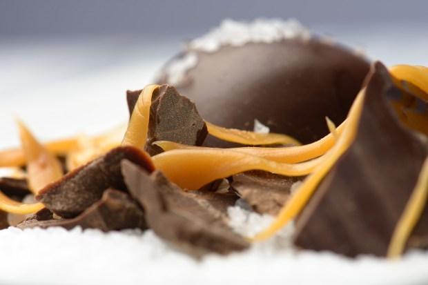 Nikon D800, 105mm f/2.8 VR Micro lens, f/11, 1/200s, ISO 100. Dark Chocolate Sea Salt Carmel.