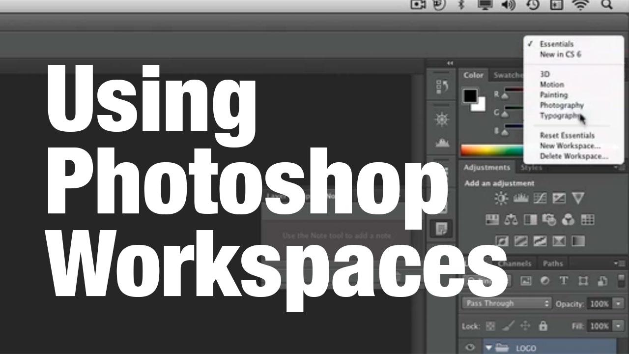 Using Photoshop Workspaces