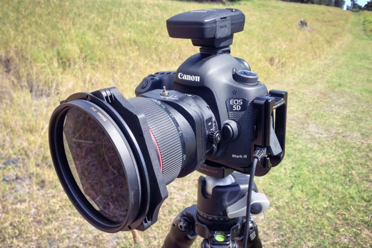 This is my setup when photographing with a circular polarizer: a 105 Sigma filter attached to a Lee filter holder.