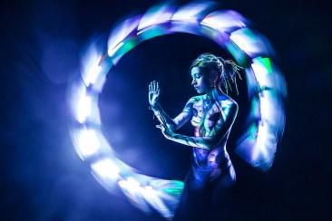 Jeanne Sanchez - Bodypainting by Yandel - picture by Eric Pare