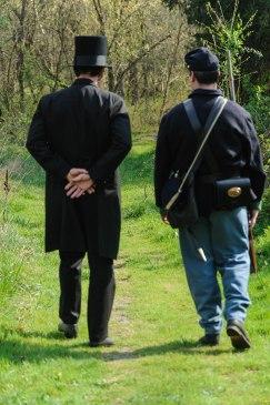 Lincoln walking away