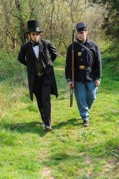 Lincoln walking back