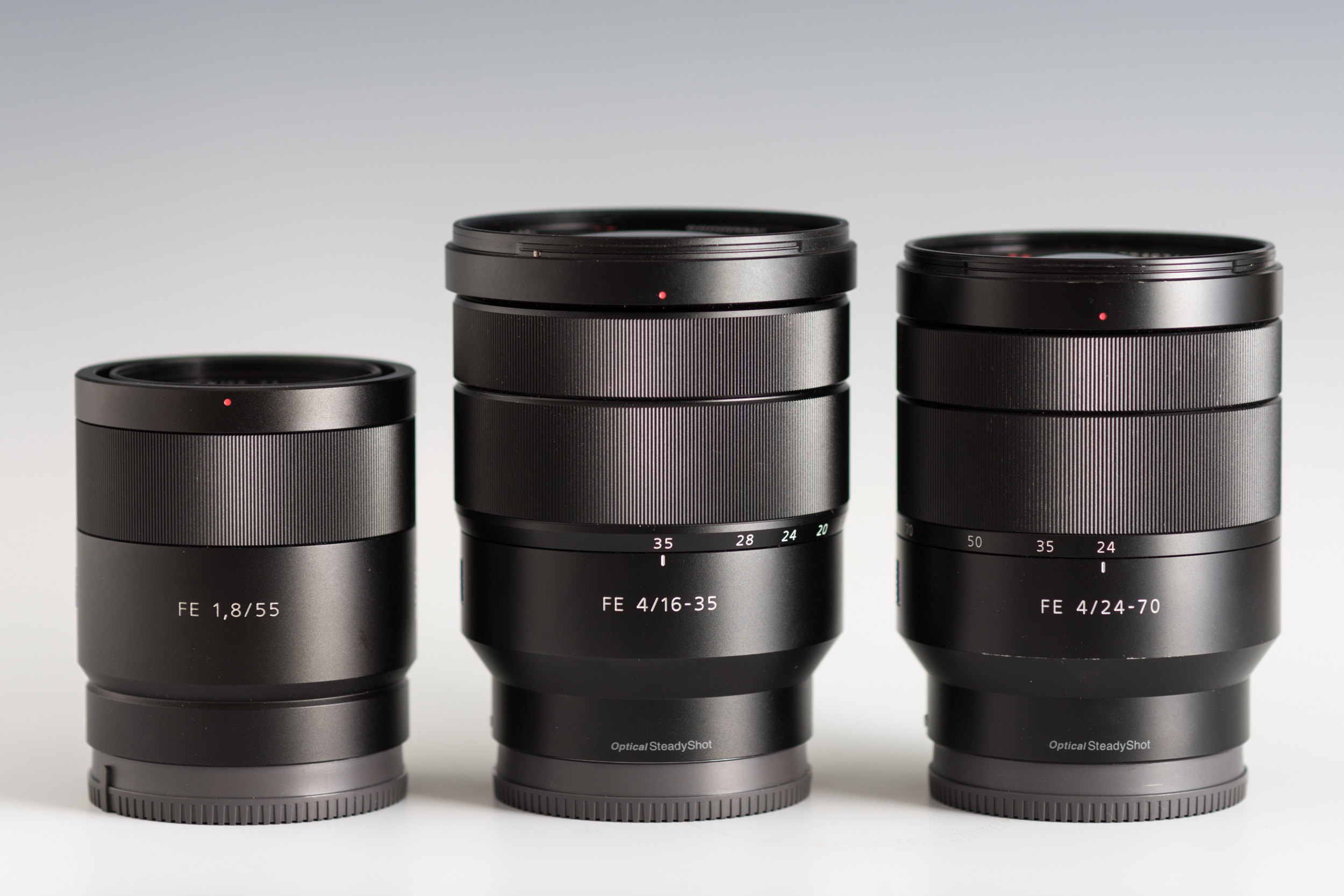 Exclusive Hands On Review The Sony Vario Tessar T Fe 16 35mm F4 Za Alpha 7 Mark Ii 58 70mm Center Flanked By 55mm