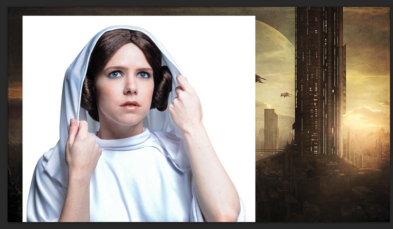 Step 3 Place Princess Leia