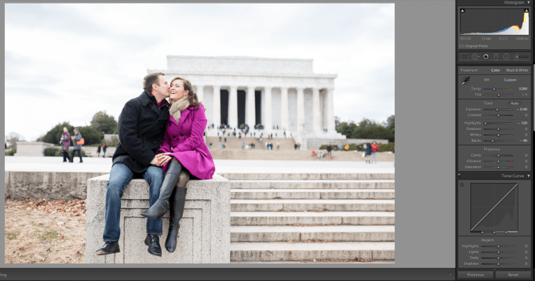 Simple highlight slider recovered those tones perfectly, without crushing and retaining a nice balance with mid & shadow tones. ©Lovesome Photography