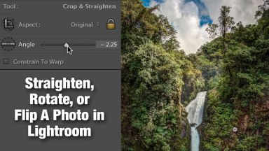 Straighten, rotate or flip a photo in Lightroom