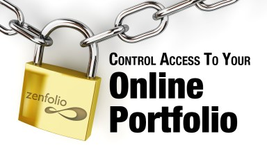 Using Zenfolio To Control Access To Your Online Portfolio