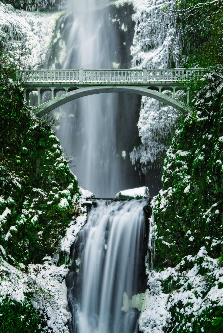 Sugar-coated Multnomah Falls