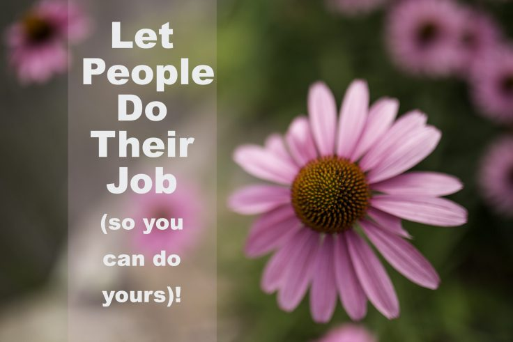 Let People Do Their Jobs