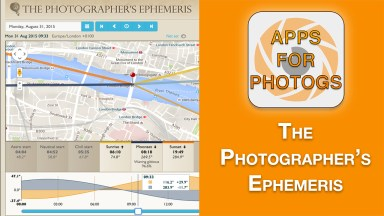 Apps For Photographers – The Photographer's Ephemeris