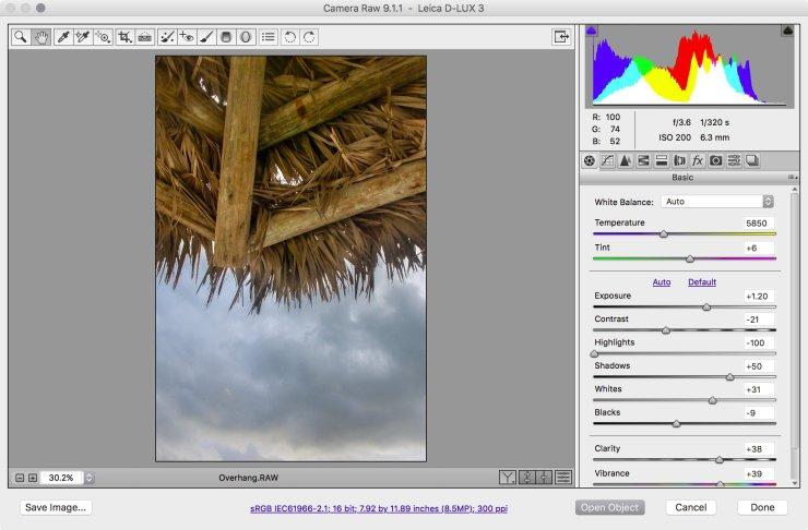 Fig 03_07 Camera Raw window