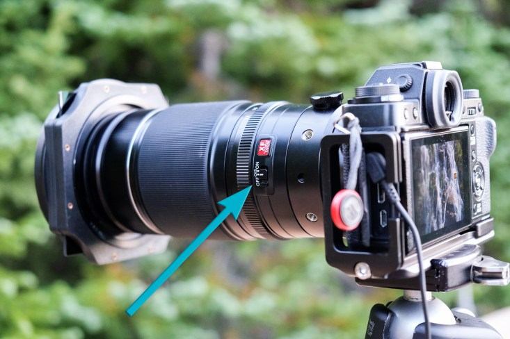 """Fuji 50-140mm lens with OIS turned """"Off"""""""