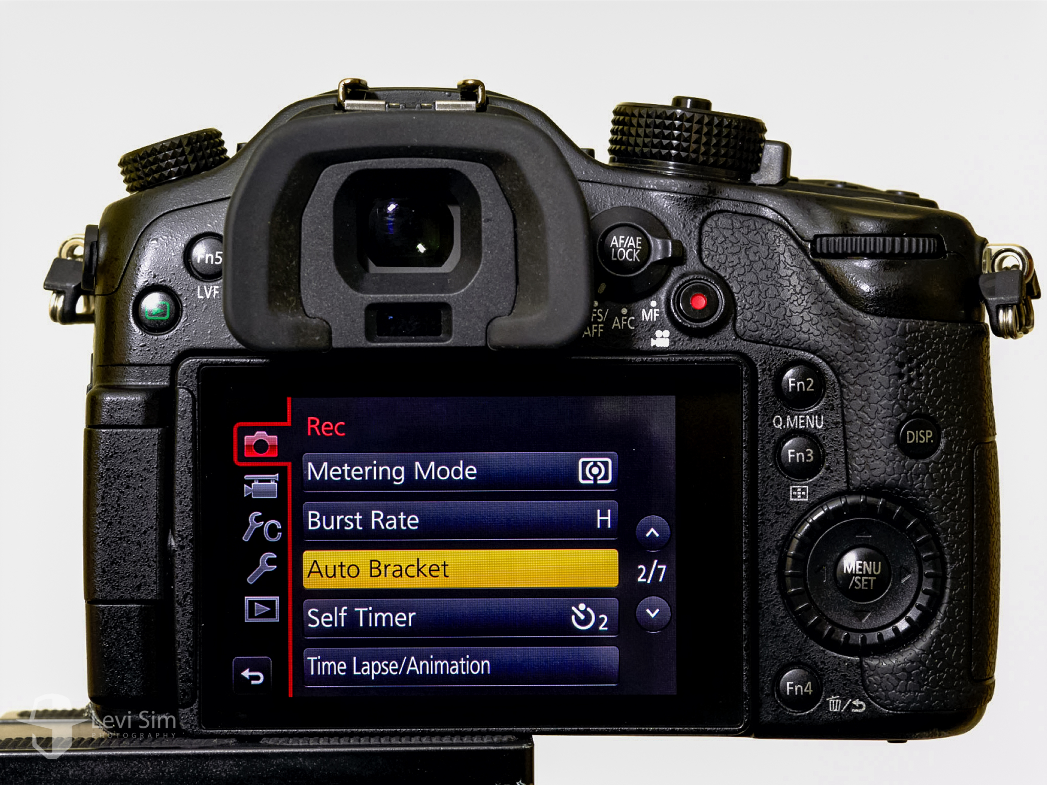 This is where you'll find the Exposure Bracketing settings