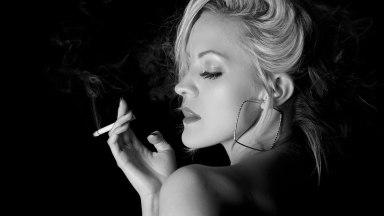 Photo of the Day: Carli smoking…