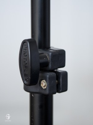 The most common collar style tightens around the tubing; the knob tightens the collar together.