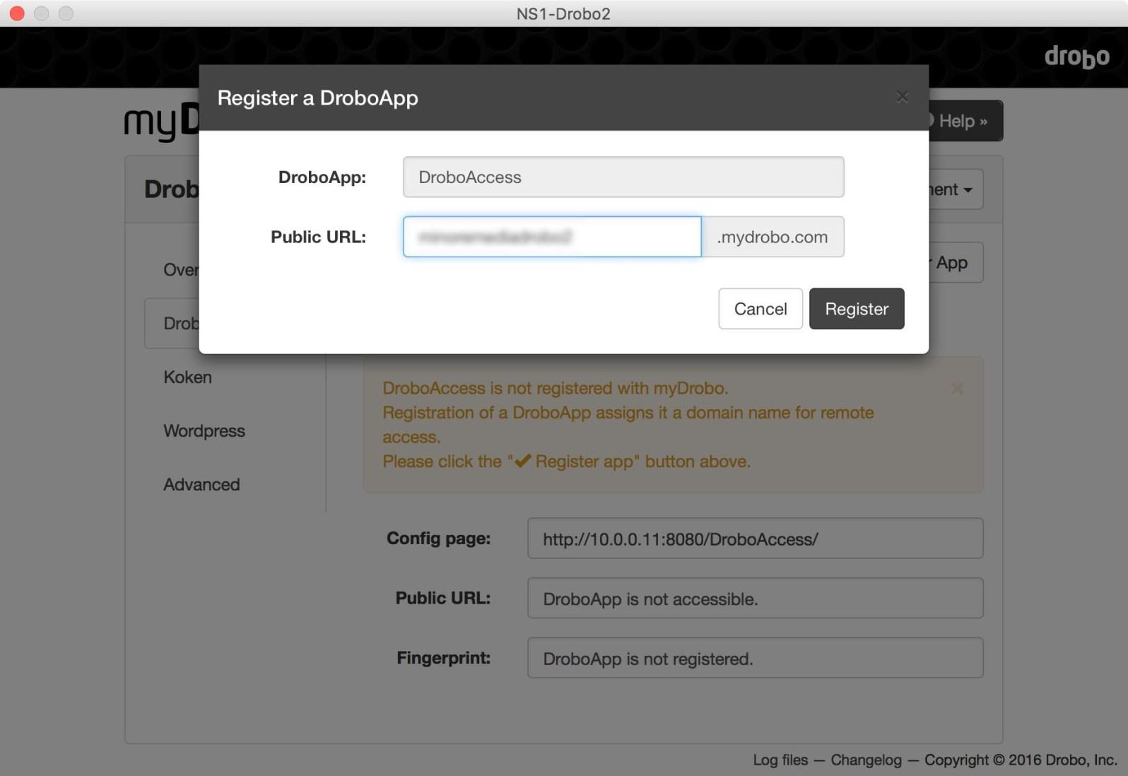 Register a DroboApp