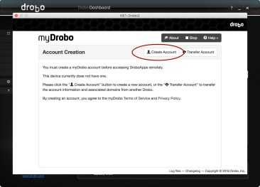 myDrobo Account Creation