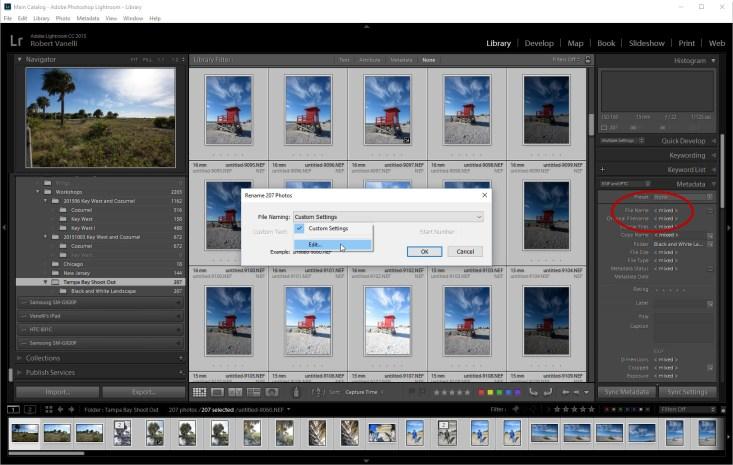 Lightrooms File Template Editor