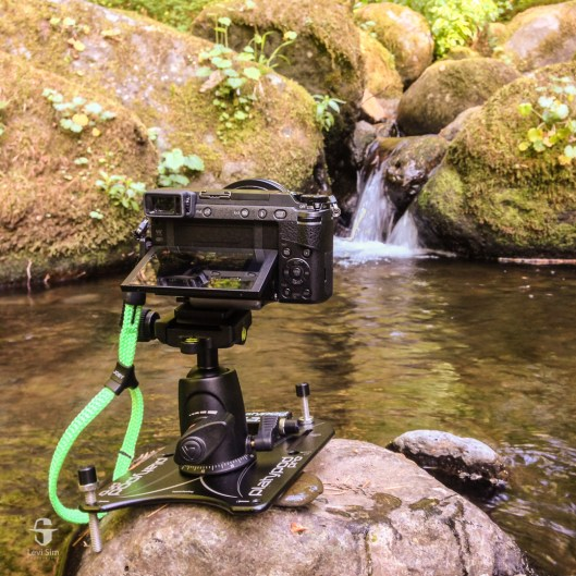 """Platypod Max's 1/4"""" 20 threaded legs kept my GX85 steady on a rock in the stream at Upper McCord Creek in the Columbia River Gorge."""