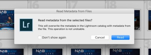 Read Metadata Popup