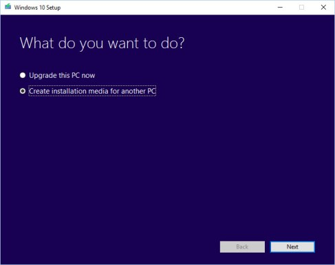 2a Create installation media for another PC