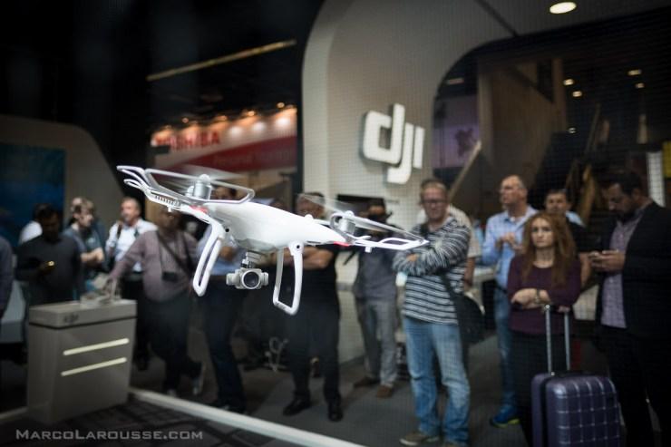 dji Phantom 4 Drone in action