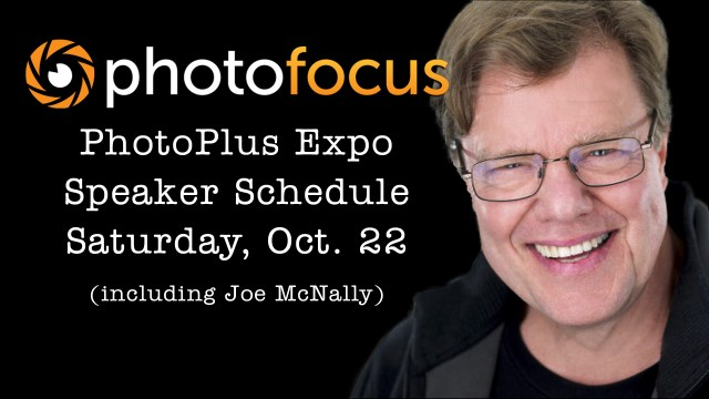 Live Speaker Schedule for Saturday at Photo Plus Expo