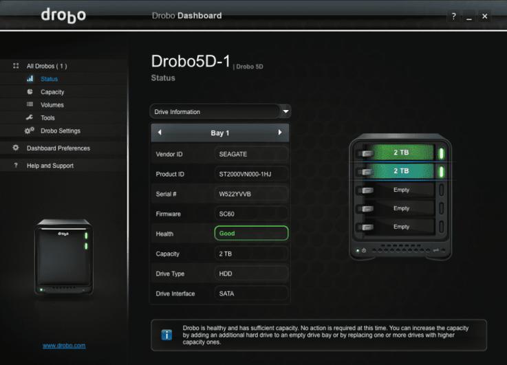 Drobo HD Details