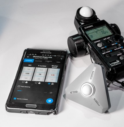 Comparing readings--The Illuminati meter and the Sekonic L-758.
