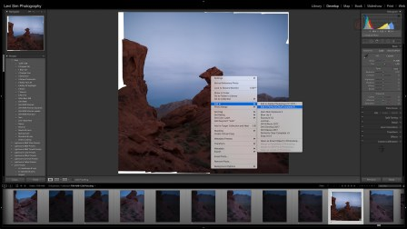 Exporting to Perfectly Clear creates a new .tif file, leaving the original pano alone.