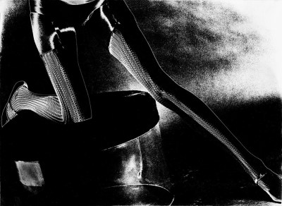 """Solarization in the darkroom resulted in the Mid 1960's print """"Spider Legs"""""""