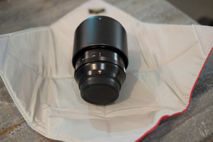 Fujifilm XF-90mm F/2 in a Ruggard Gear Wrap 11x11