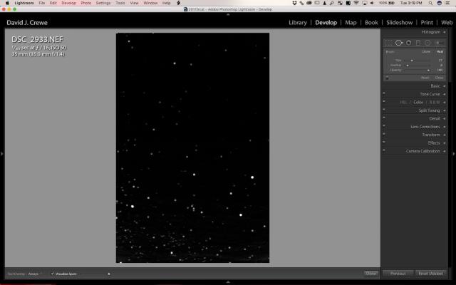"Quick Trick in Adobe Lightroom to help find Sensor ""Spots"""