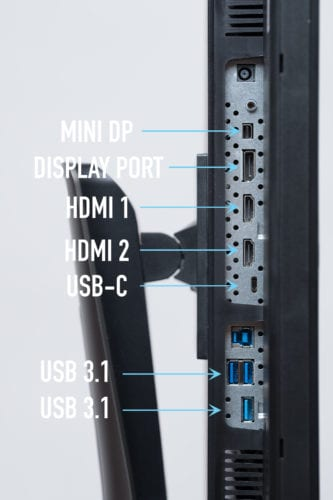 VP2785-4K Connectivity