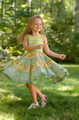 Young girl spinning