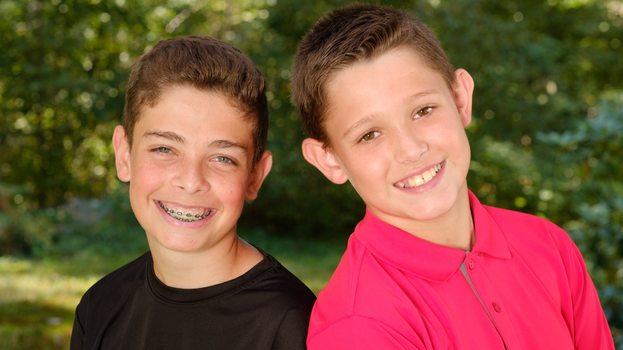 Two boys smiling