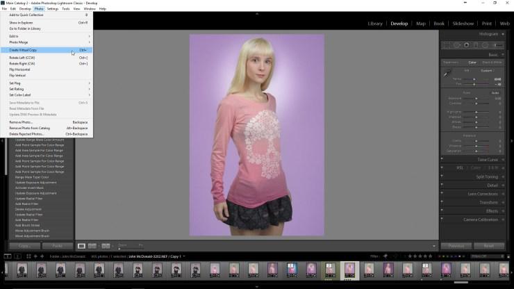 Create a Lightroom Virtual Copy