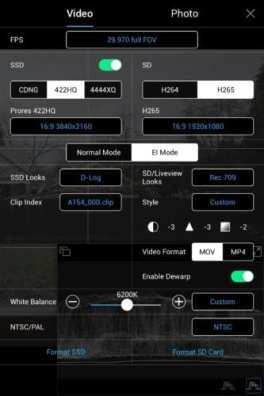 Video settings
