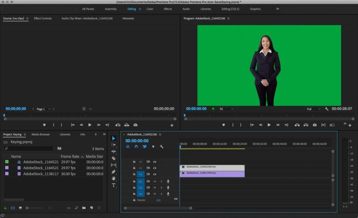 Photofocus how to key greenscreen video in adobe premiere pro both the greenscreen footage and the background used in the video are courtesy adobe stock fandeluxe Images